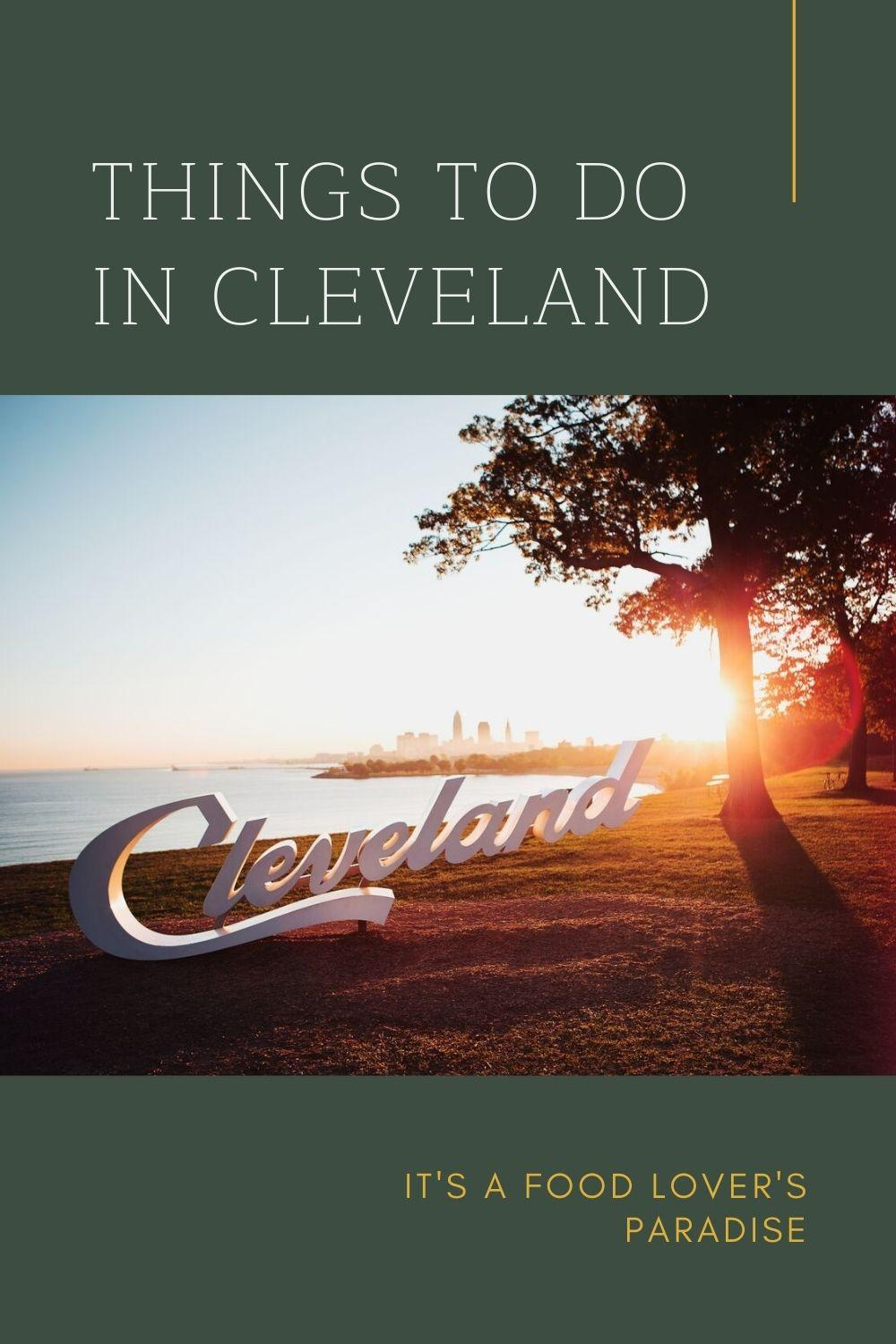 Things to do in Cleveland graphic
