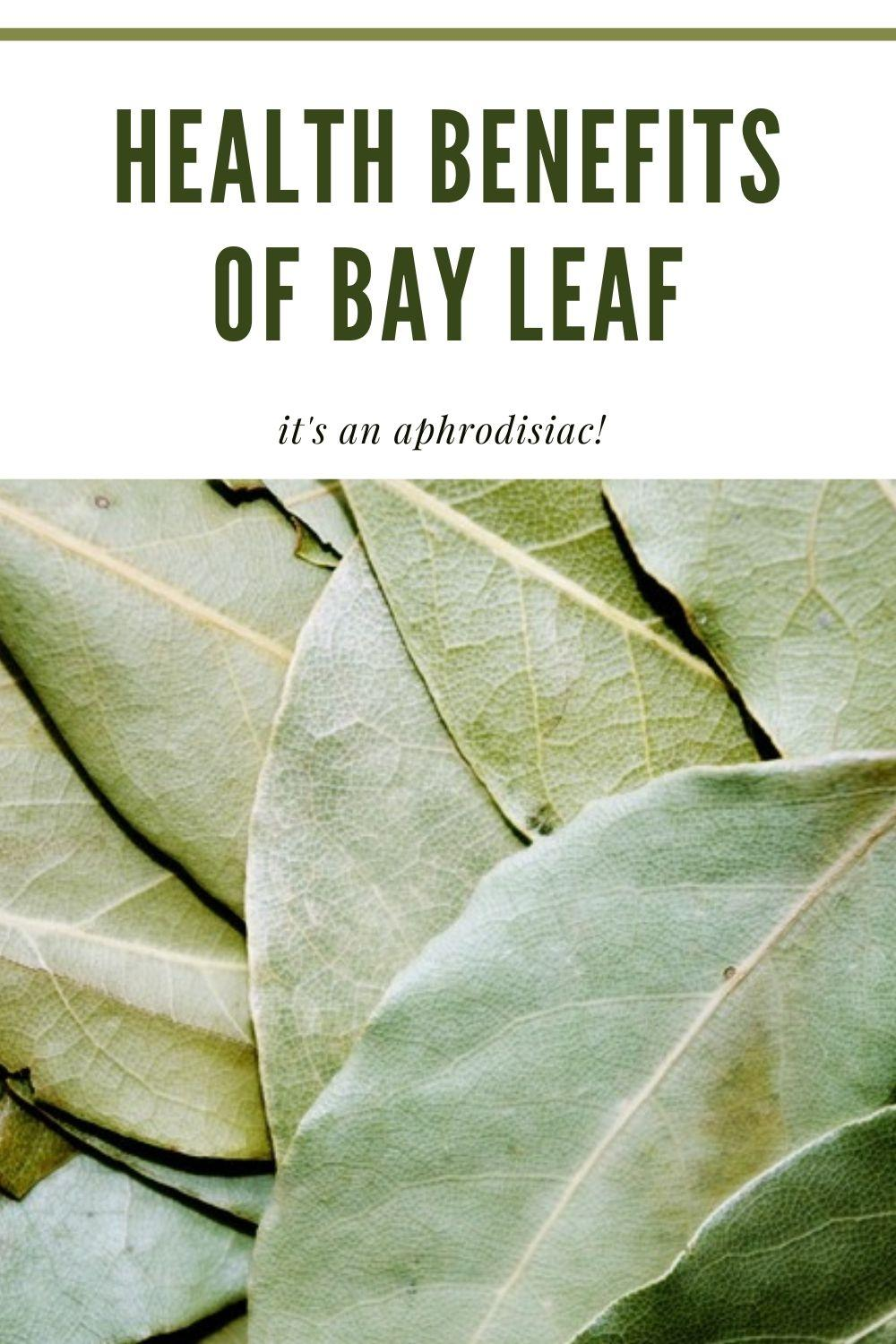 benefits of bay leaf graphic