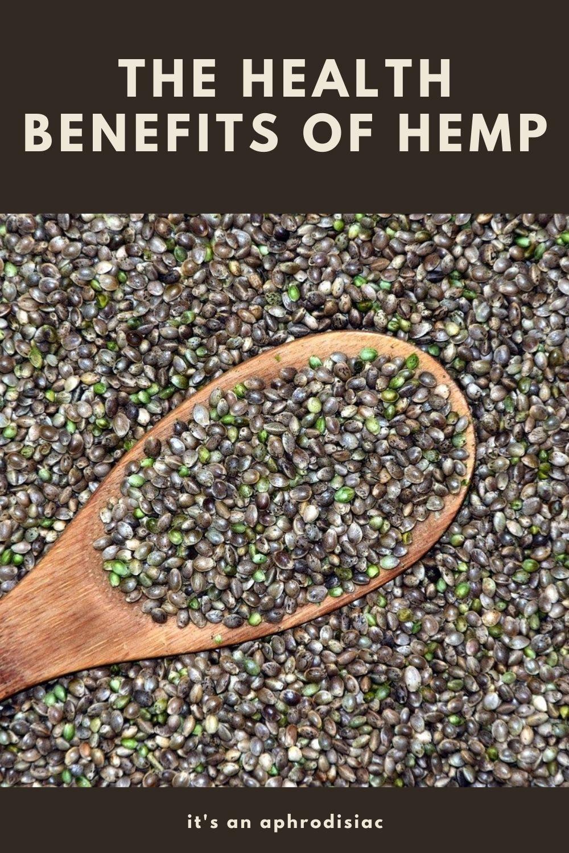 the health benefits of hemp graphic