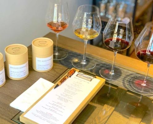 example of the Napa Valley Wine Tasting with Potato Chips at Shadowbox Cellars