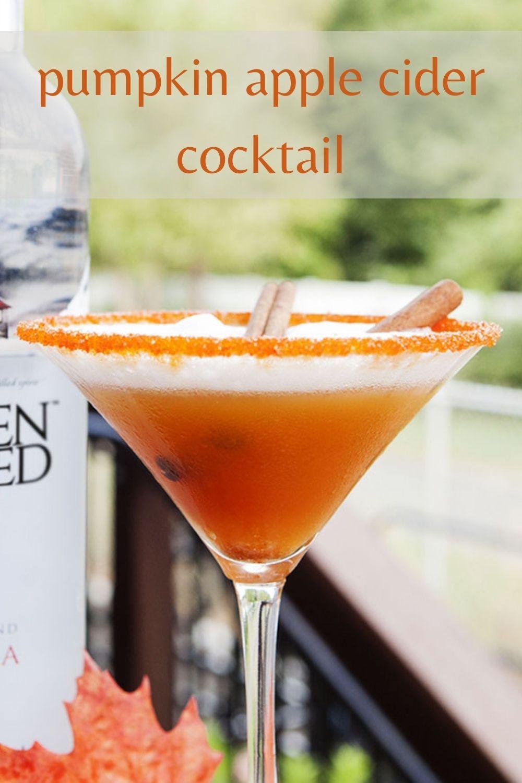 pumpkin apple cider cocktail graphic