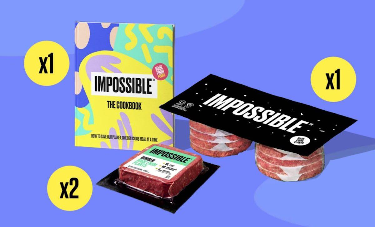 Impossible Foods Gift Kit on a purple background