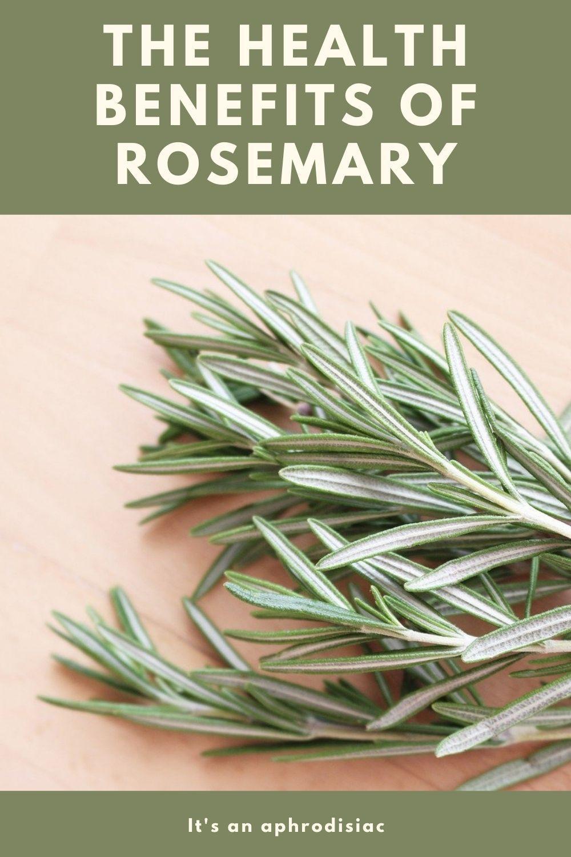 Rosemary benefits graphic