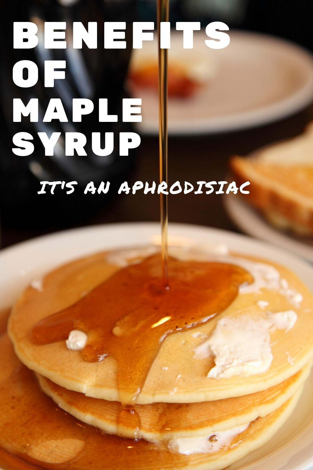 maple syrup benefits graphic