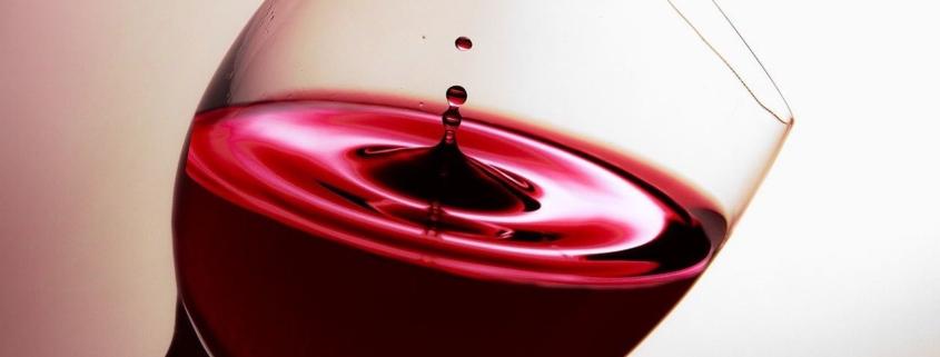 Organic wine in stemware