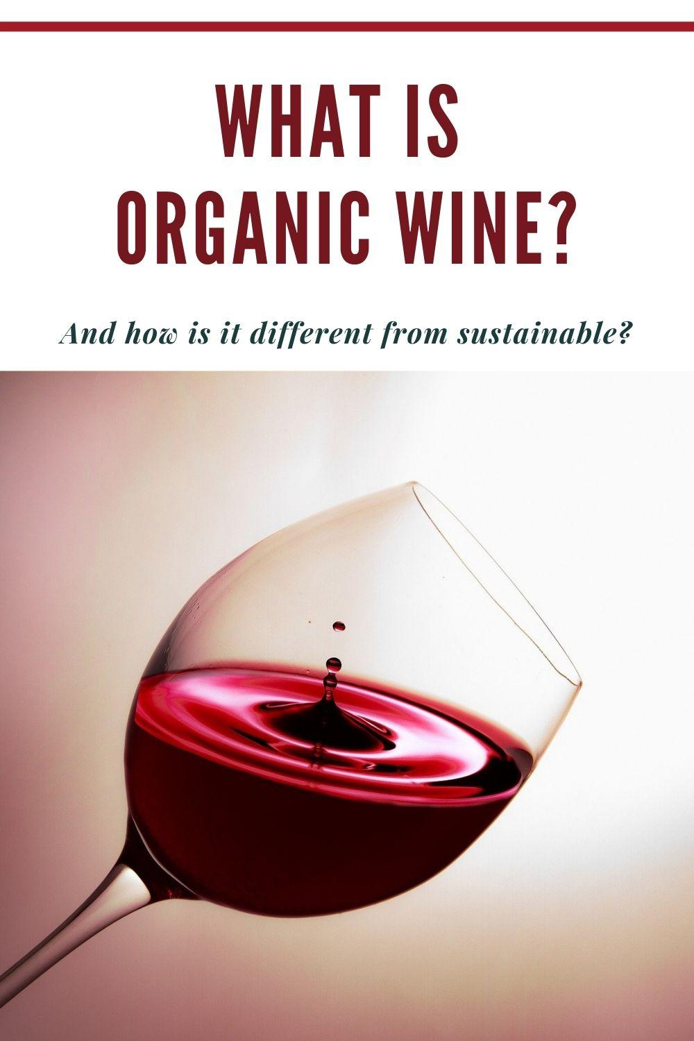 what is organic wine? graphic