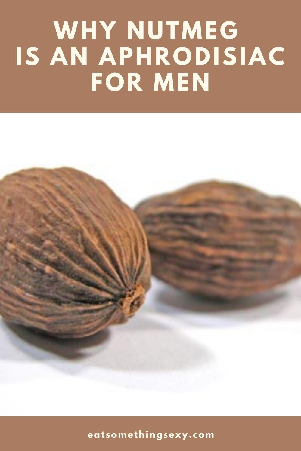 Nutmeg benefits for men graphic