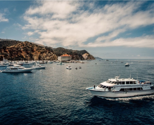 Boats in Avalon Harbor on Catalina Island