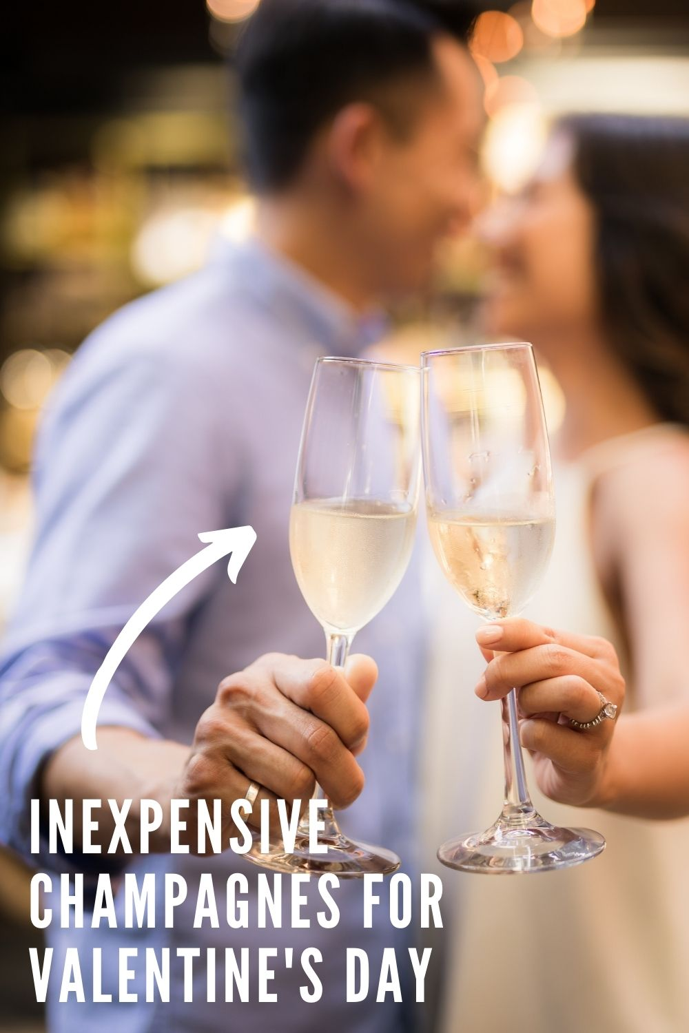 Inexpensive Champagne for Valentine's Day graphic