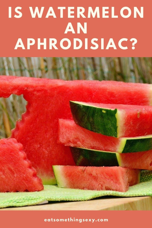 watermelon aphrodisiac graphic