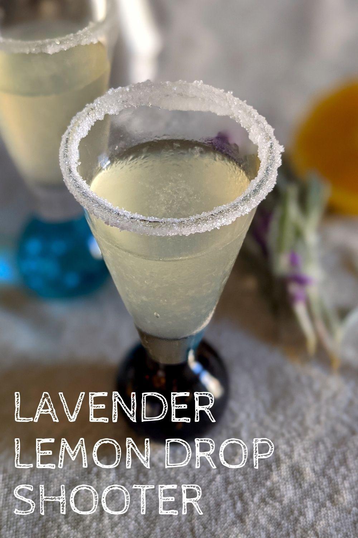 lavender lemon drop shot recipe graphic