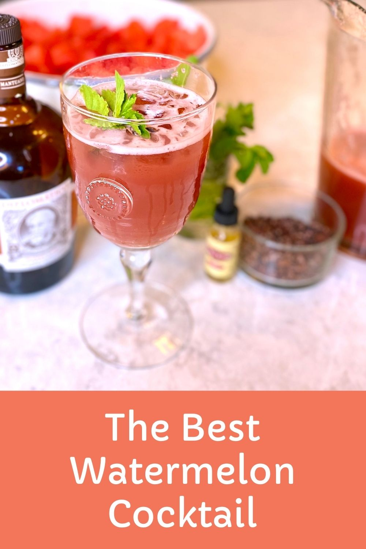 watermelon cocktail graphic