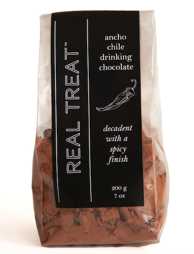 Real Treat Ancho Chile spiced drinking chocolate mix