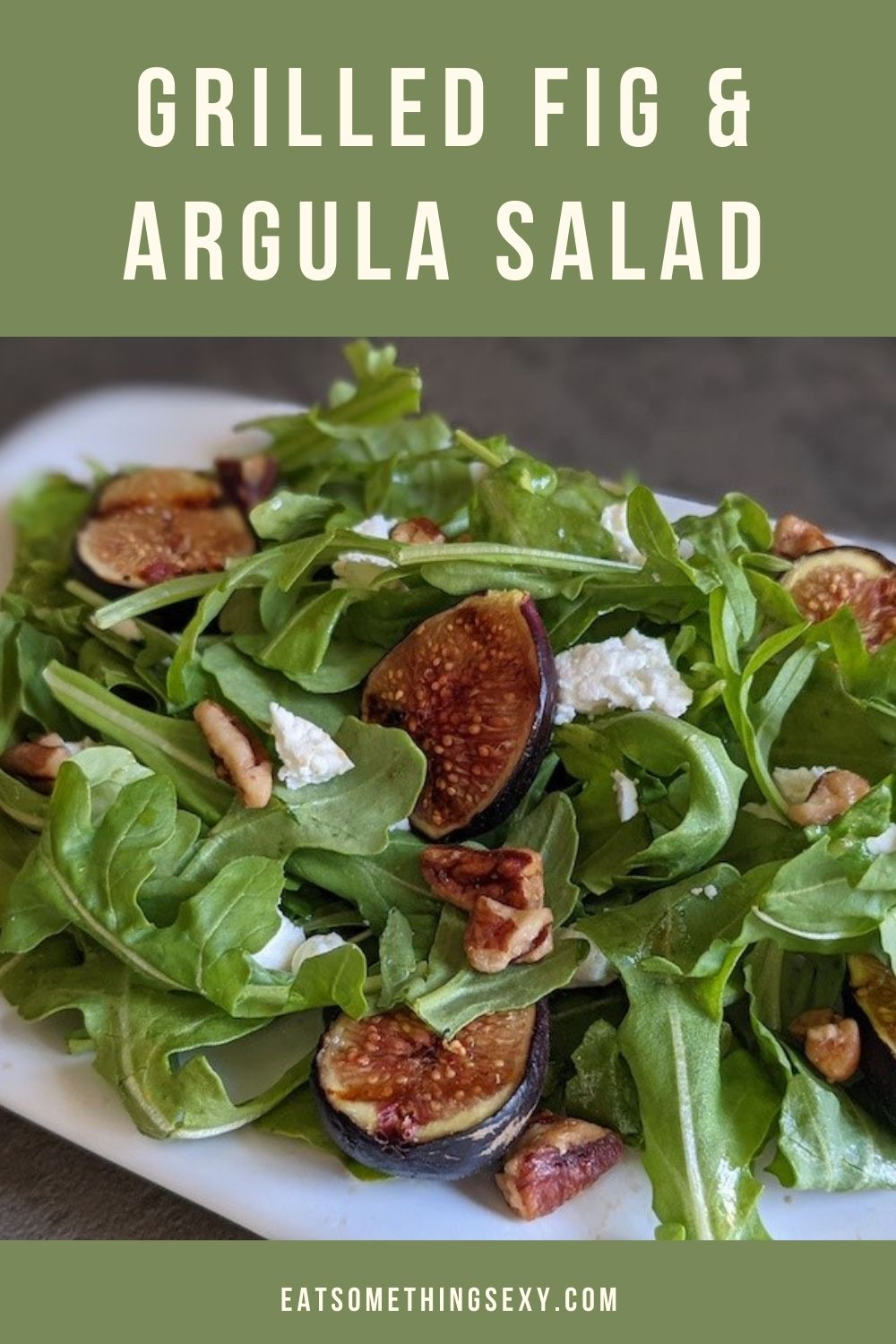grilled fig and arugula salad graphic
