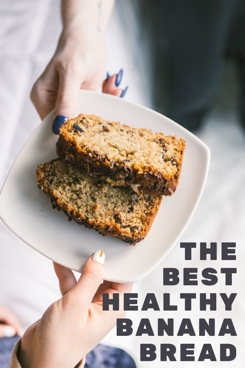 the best healthy banana bread graphic
