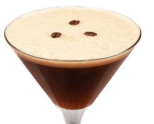 closeup of this tia maria espresso martini recipe