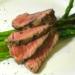 herb-marninated, grilled buffalo steak